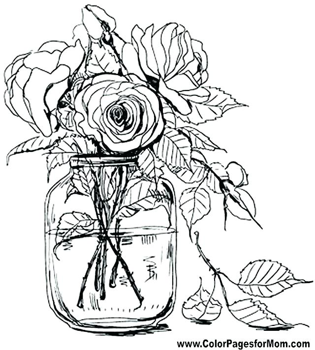 640x712 Coloring Book Pages Flowers Coloring Book Pages Flowers Flower