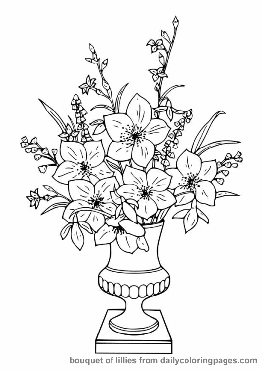 Free Printable Coloring Pages For Adults Flowers At
