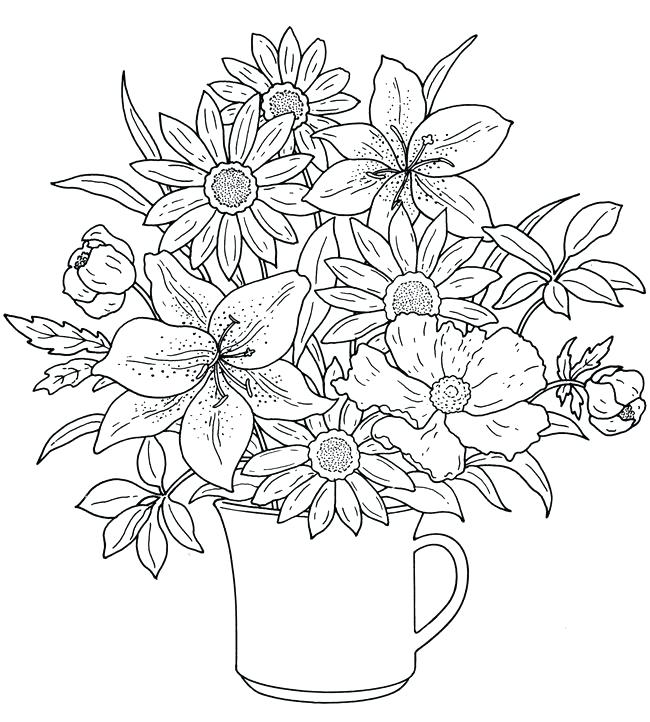 650x722 Free Printable Coloring Pages Of Flowers Inspirational Flower