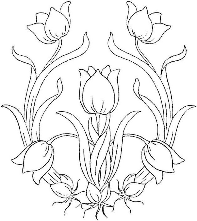630x707 Best Printable Patterns Images On Embroidery