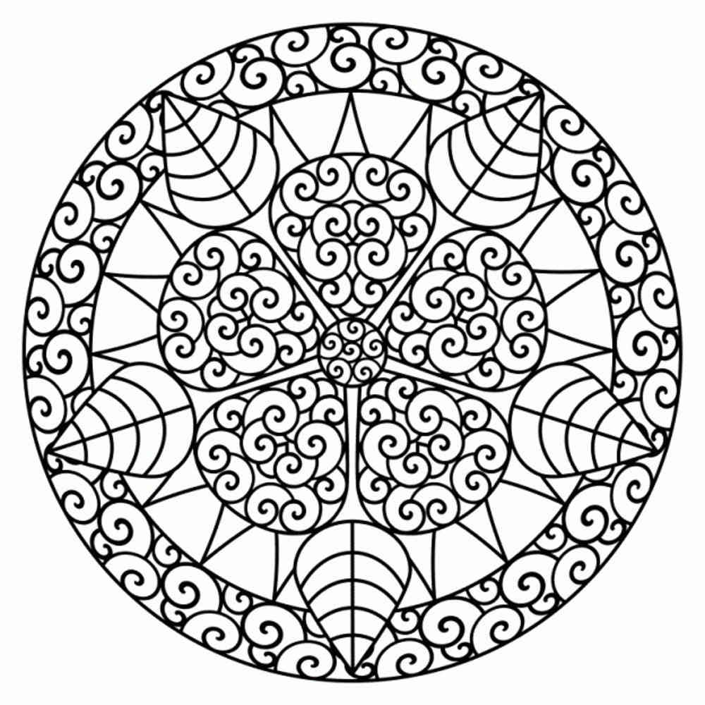 1000x1000 Geometric Flower Coloring Pages Many Interesting Cliparts