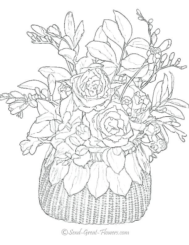 612x792 Adult Coloring Pages Flowers Free Printable Coloring Pages