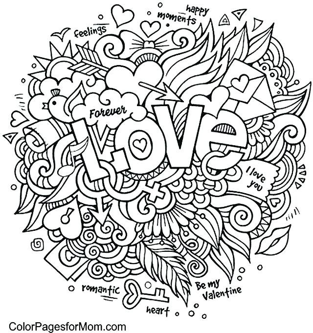 640x681 Advanced Flower Coloring Pages Printable Coloring Pages For Adults