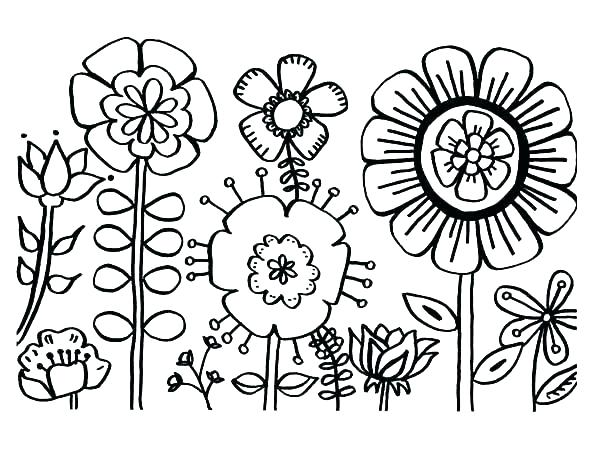 600x463 Color Page Flower Adult Flower Coloring Pages Spring Flower