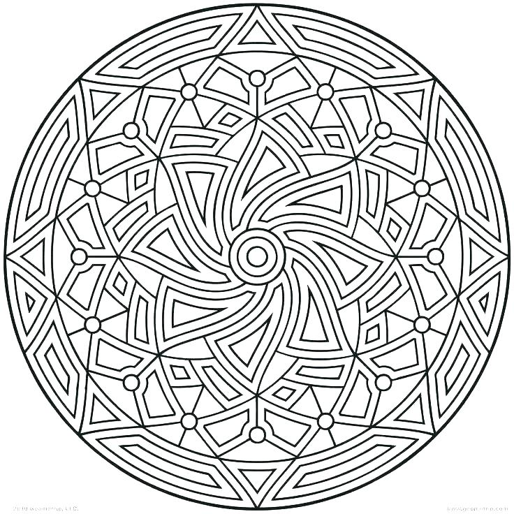 736x736 Complex Geometric Coloring Pages Free Printable Geometric Coloring