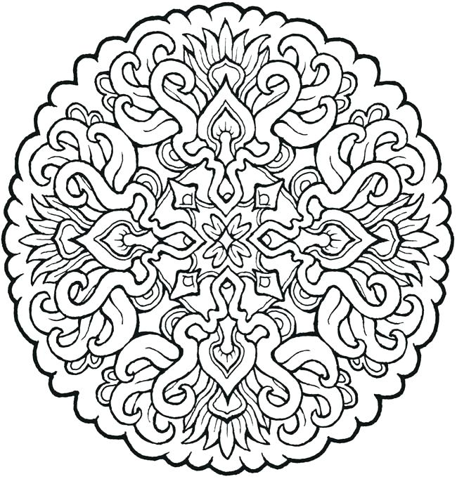 650x682 Free Mandala Coloring Pages For Adults Pdf Free Printable Coloring