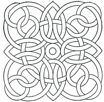 360x352 Free Printable Geometric Coloring Pages Adults Geometric Shapes