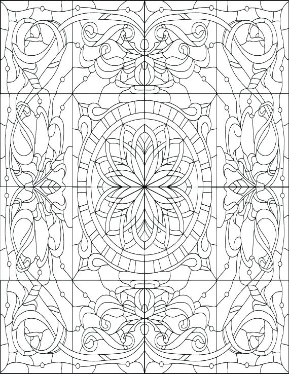 570x738 Geometric Color Sheets Free Printable Coloring Sheets For Adults