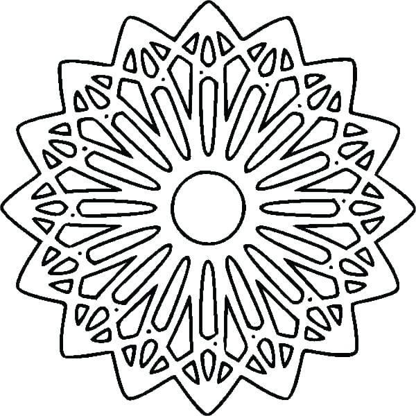 600x600 Geometric Coloring Page Geometric Coloring Pages Printable Design