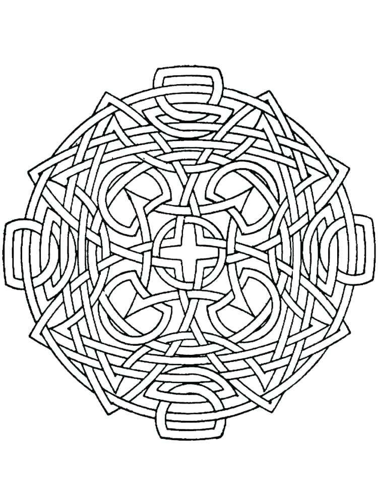 750x1000 Geometric Designs Coloring Pages Free Geometric Design Coloring