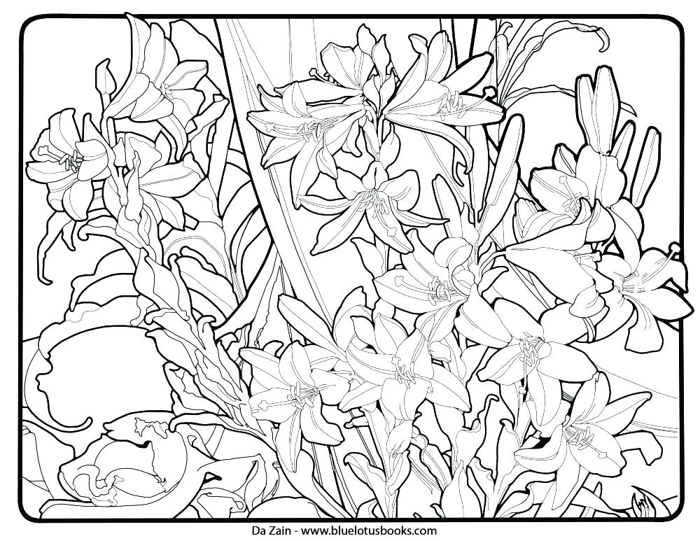 1000x773 Geometric Pattern Coloring Pages Coloring Pages Flowers