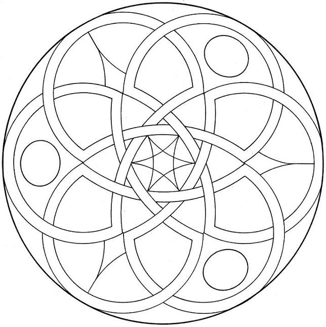 644x646 Printable Coloring Pages Detailed Geometric Coloring Pages