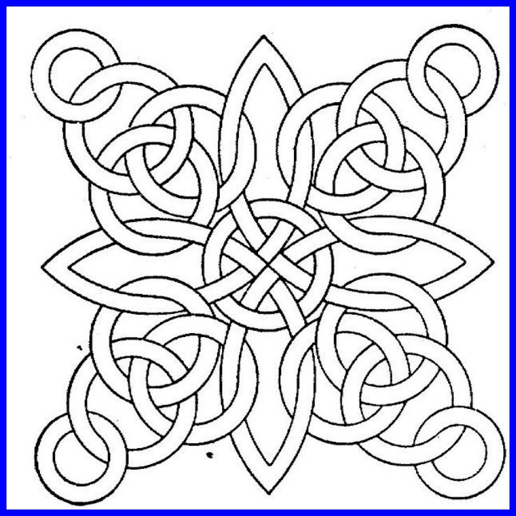 1050x1050 Printable Geometric Coloring Pages