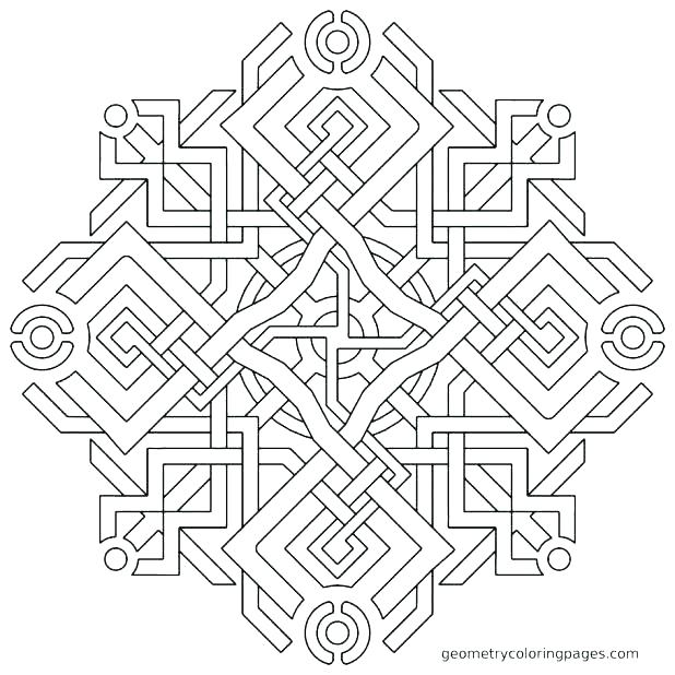 618x618 Easy Geometric Coloring Pages