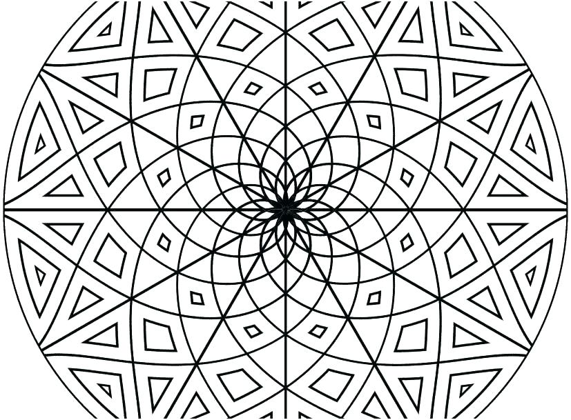 827x609 Free Geometric Coloring Pages For Adults