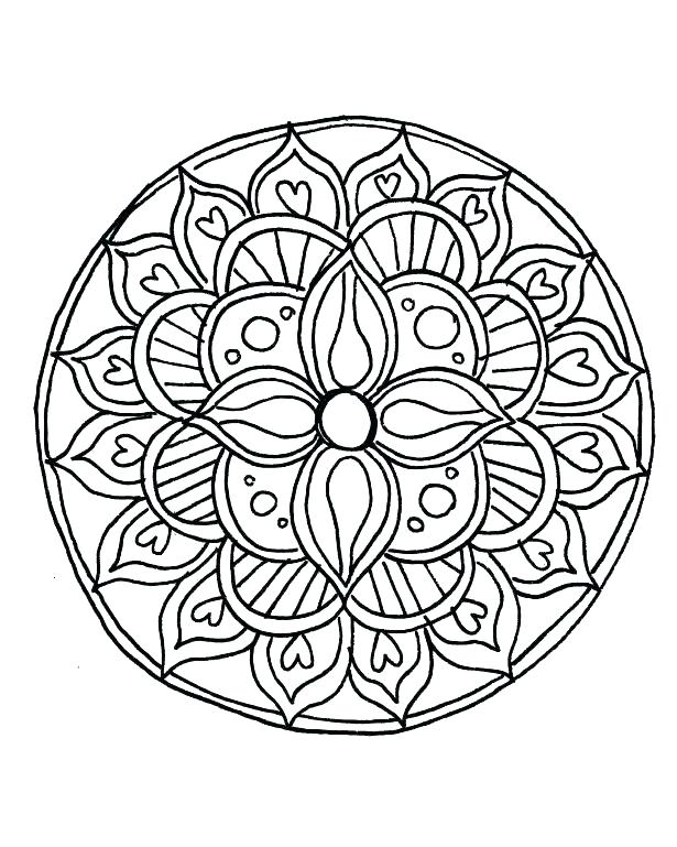 615x769 Free Printable Coloring Pages For Adults Geometric