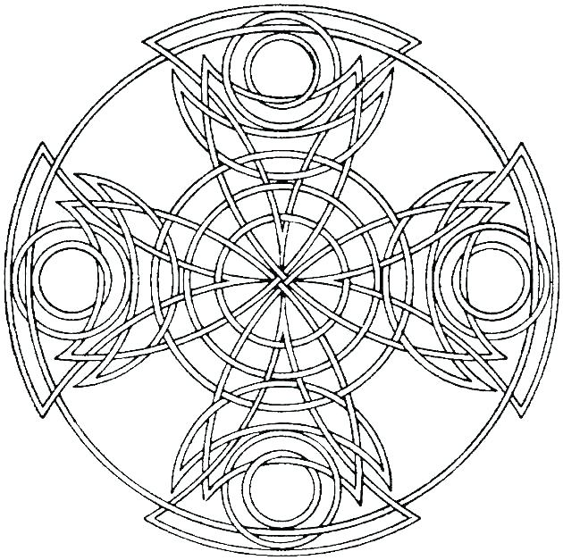 630x627 Geometric Coloring Pages For Adults