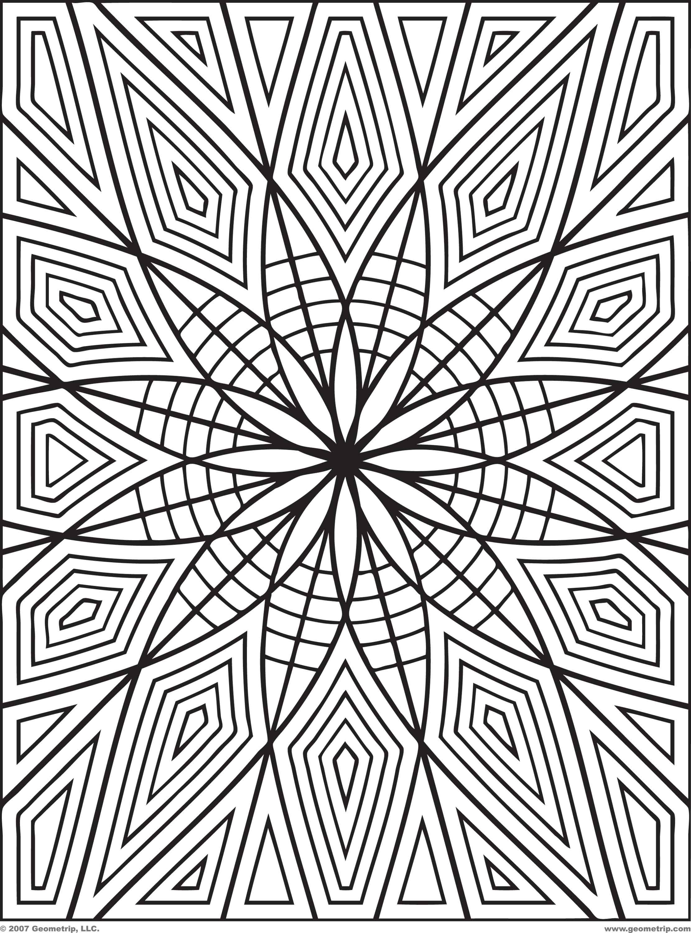 2222x3000 Coloring Pages Adults Geometric Amazing Free Printable Coloring