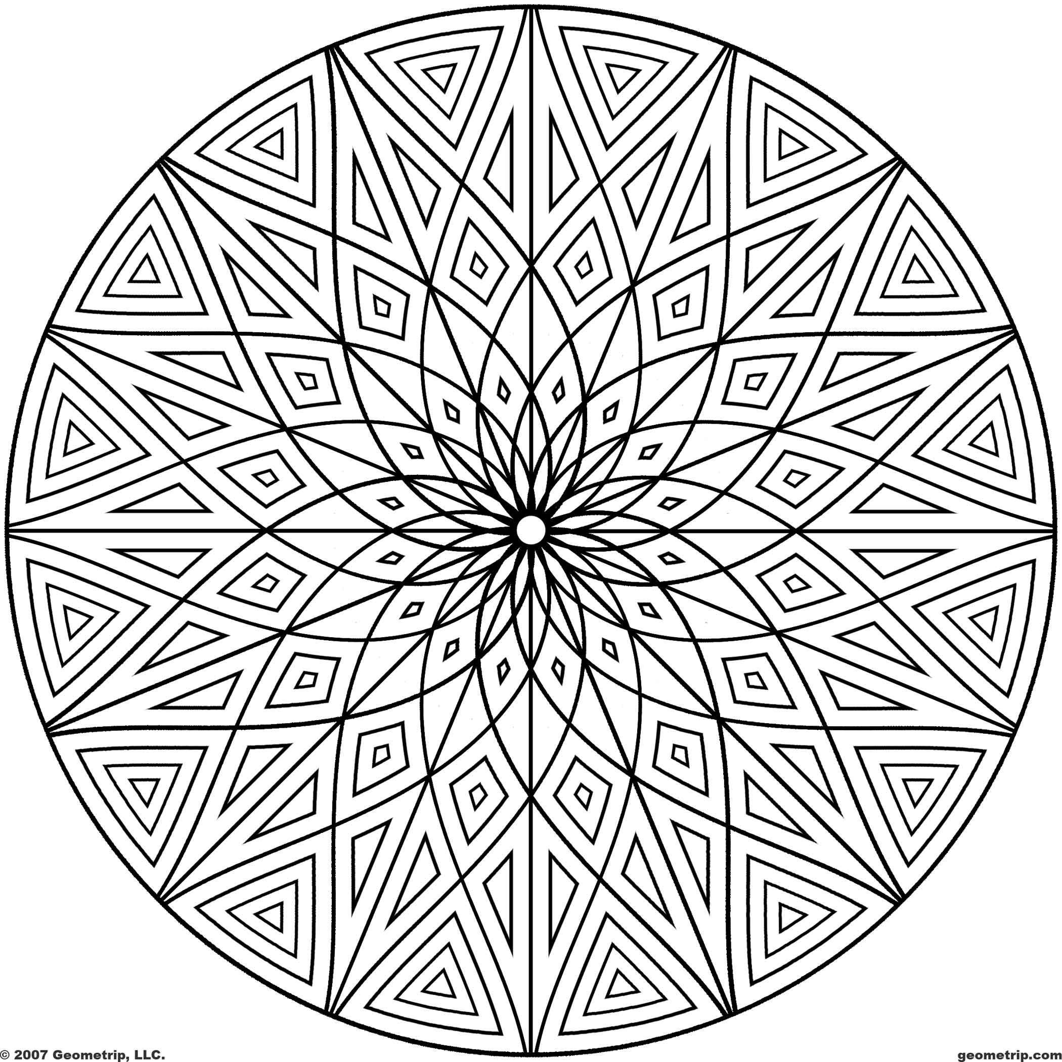 2100x2100 Coloring Pages Adults Geometric Printable Geometric Patterns