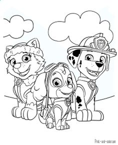 236x290 Free Printable Paw Patrol Coloring Pages For Kids Print Out
