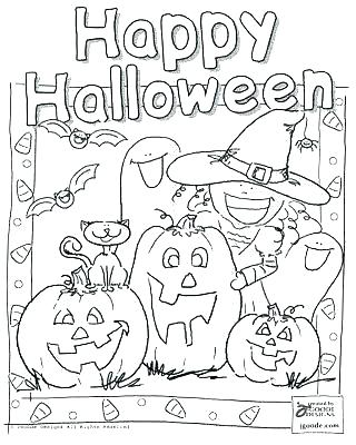 320x400 Halloween Coloring Pages For Toddlers Free Disney Halloween