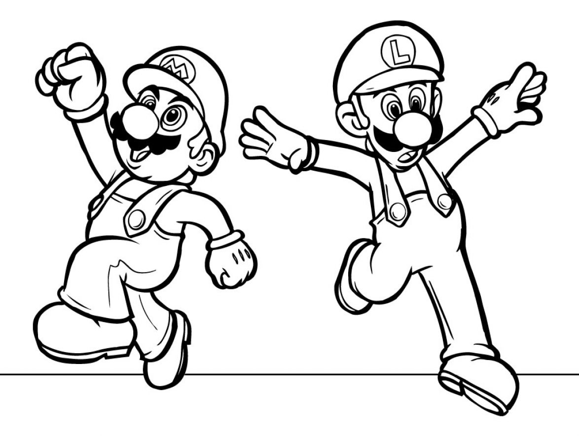 1174x884 Mario Character Coloring Pages Print Epic Free Coloring Pages