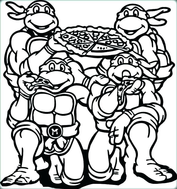 687x733 Ninja Turtles Printable Coloring Pages Teenage Mutant Ninja