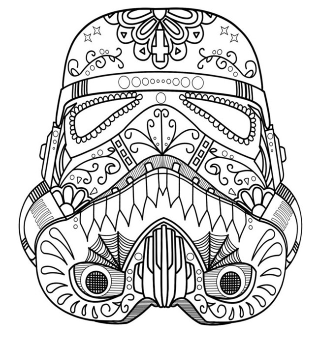 650x702 Star Wars Free Printable Coloring Pages For Adults Kids {over