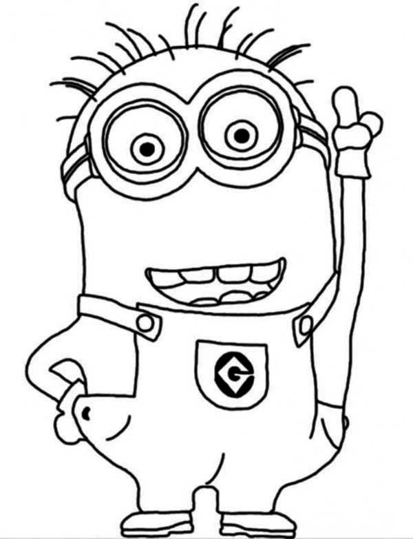 600x783 Minion Coloring Pages Free Printable Colouring Book