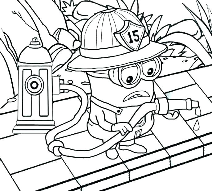 688x619 Minion Coloring Minion Coloring Pages To Print
