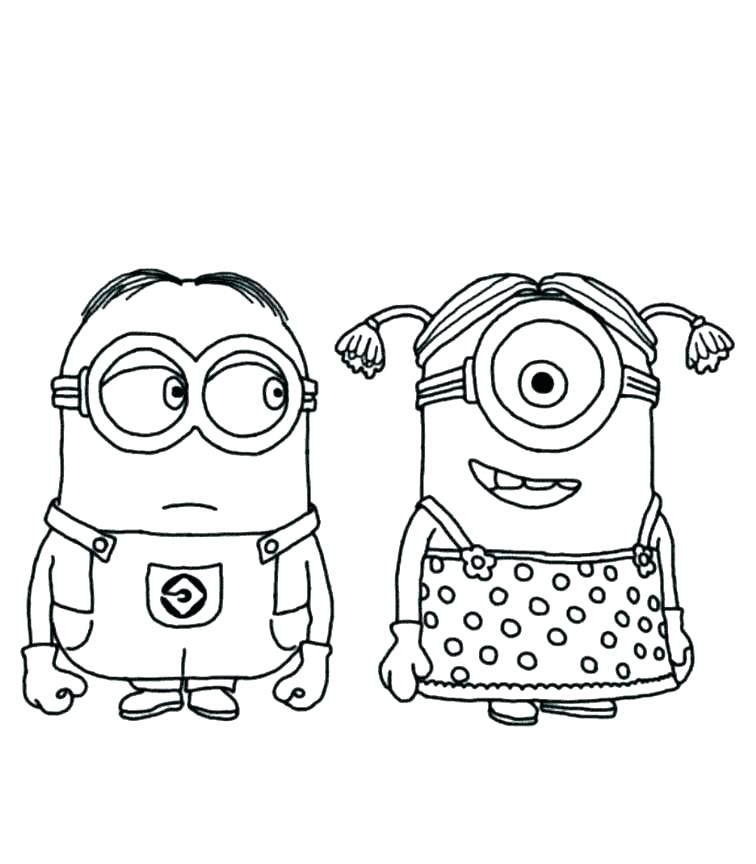 756x864 Minion Coloring Page Minion Coloring Pages Free Minion Coloring