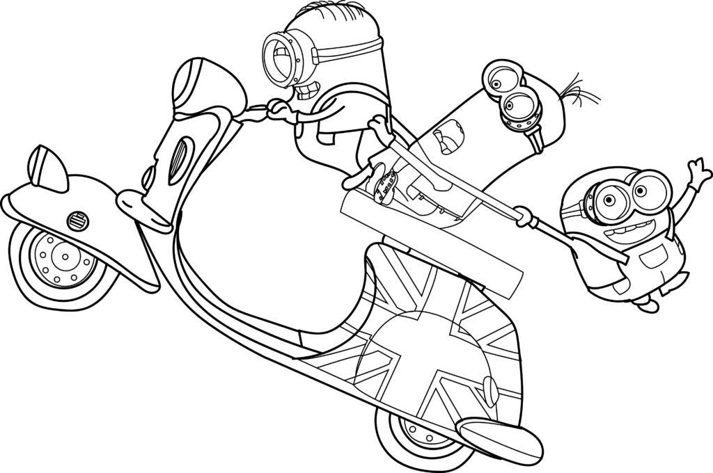 1024x680 Minion Coloring Pages