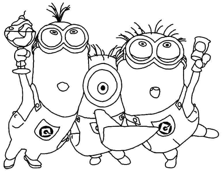 771x600 Free Online Minion Coloring Pages Printable Coloring Free Minion