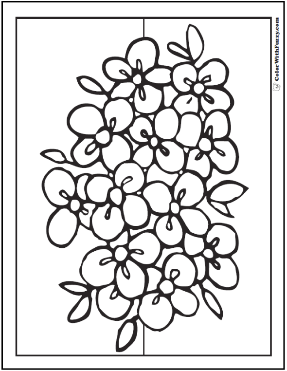 Free Printable Coloring Pages Of Flowers For Kids At