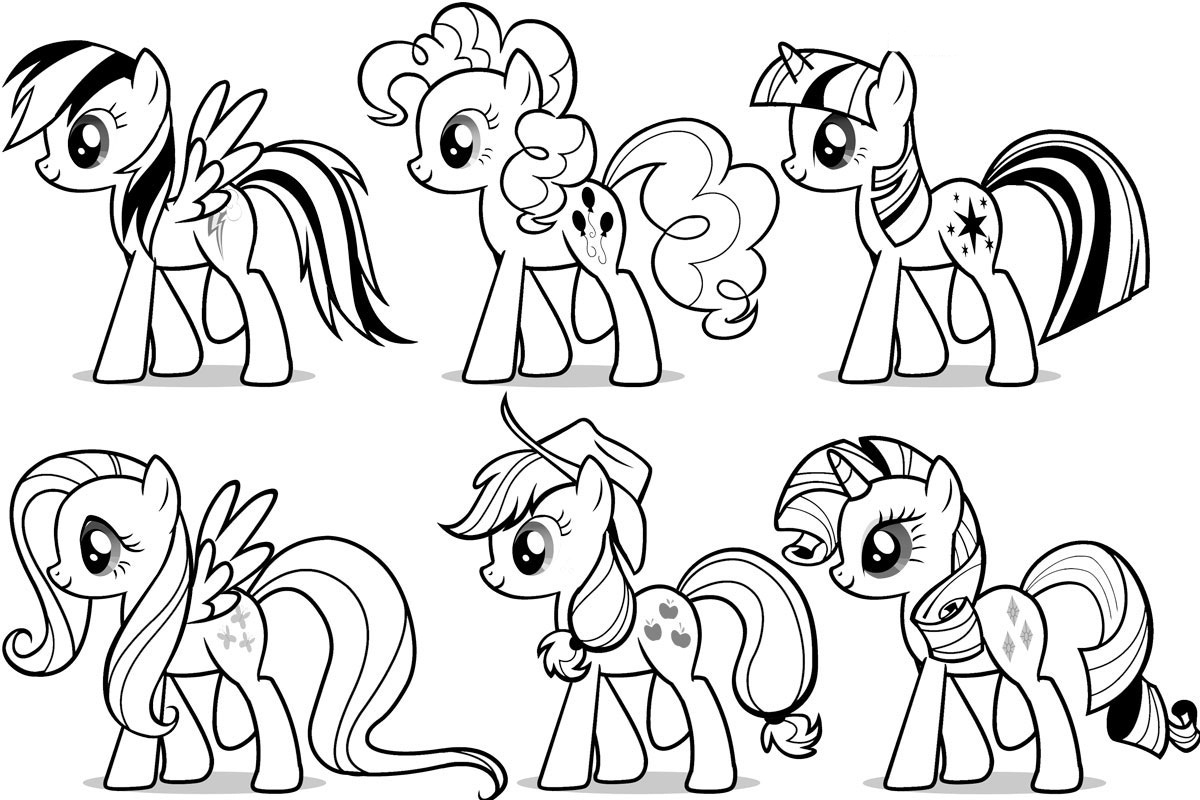 Free Printable Coloring Pages Of My Little Pony