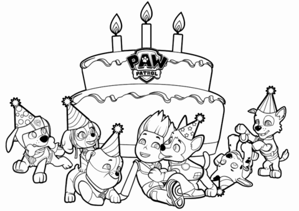 960x678 Get This Paw Patrol Coloring Pages Free Printable Cake Print