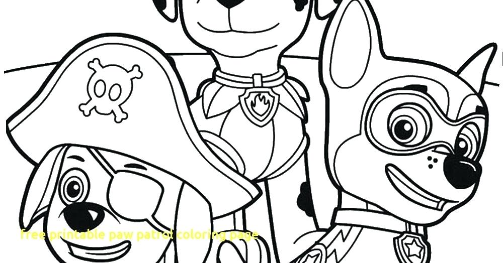 1000x524 Nick Jr Printable Coloring Pages Free Paw Patrol Page With Color