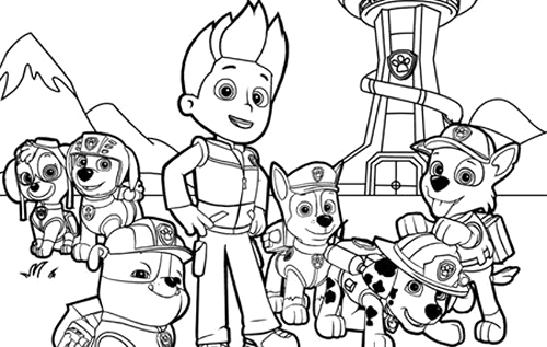 500x317 Paw Patrol Coloring Pages