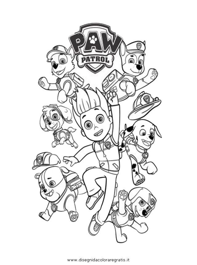 640x860 Paw Patrol Coloring Pages