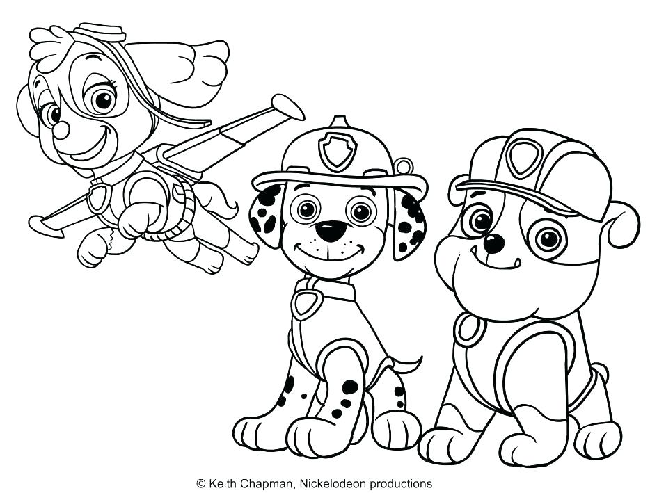 934x709 Paw Patrol Coloring Sheets With Paw Print Coloring Pages Paw