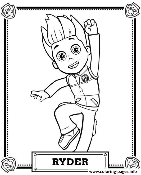 533x663 Print Paw Patrol Ryder Coloring Pages Brandon's Birthday