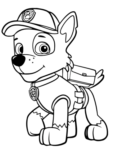 364x480 Rocky Paw Patrol Coloring Page