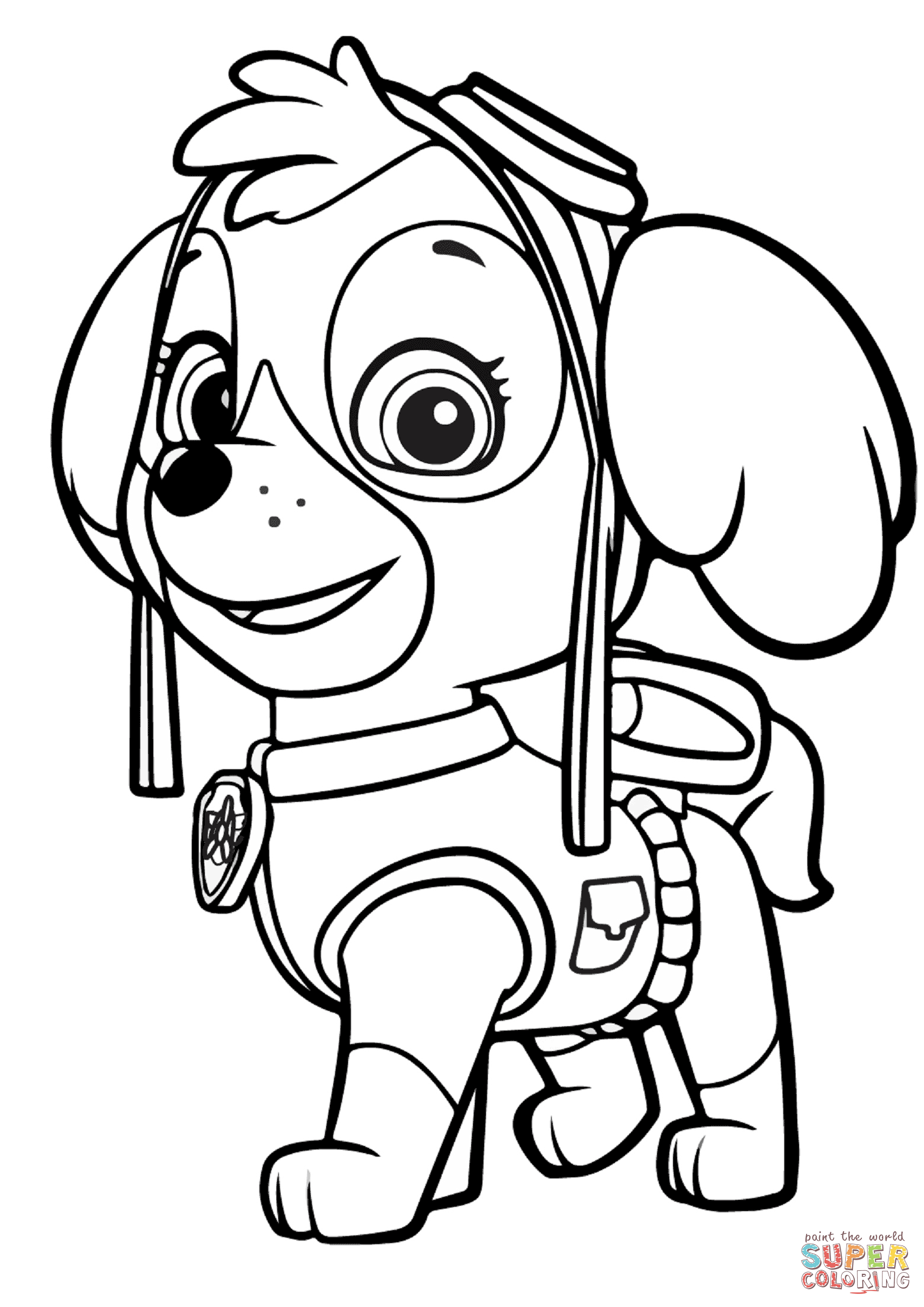 1561x2207 Paw Patrol Skye Coloring Page Free Printable Coloring Pages