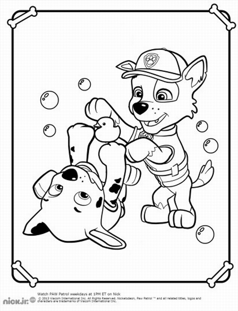 921x1200 Free Paw Patrol Coloring Pages