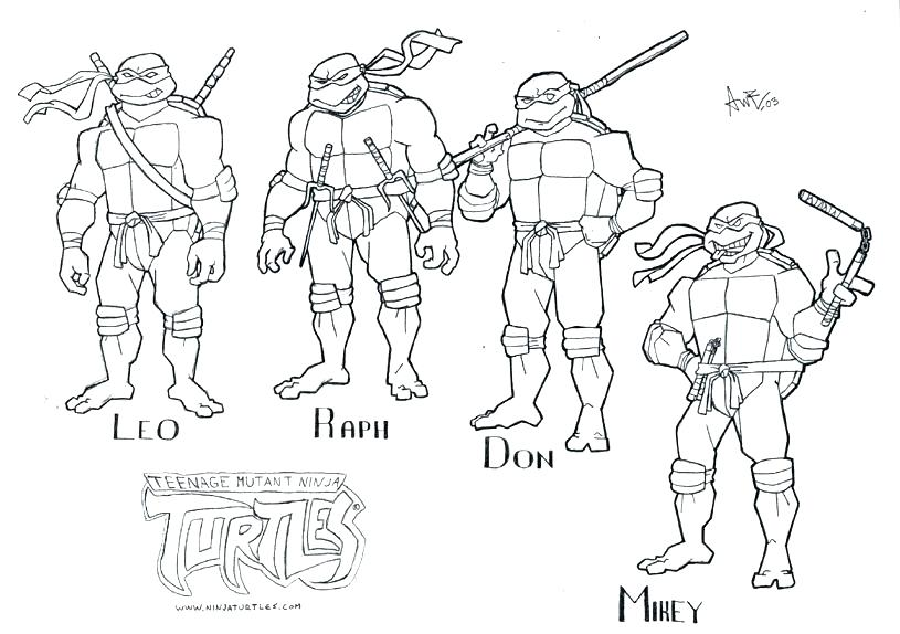 815x574 Ninja Turtles Coloring Pages Printable S S Teenage Mutant Ninja