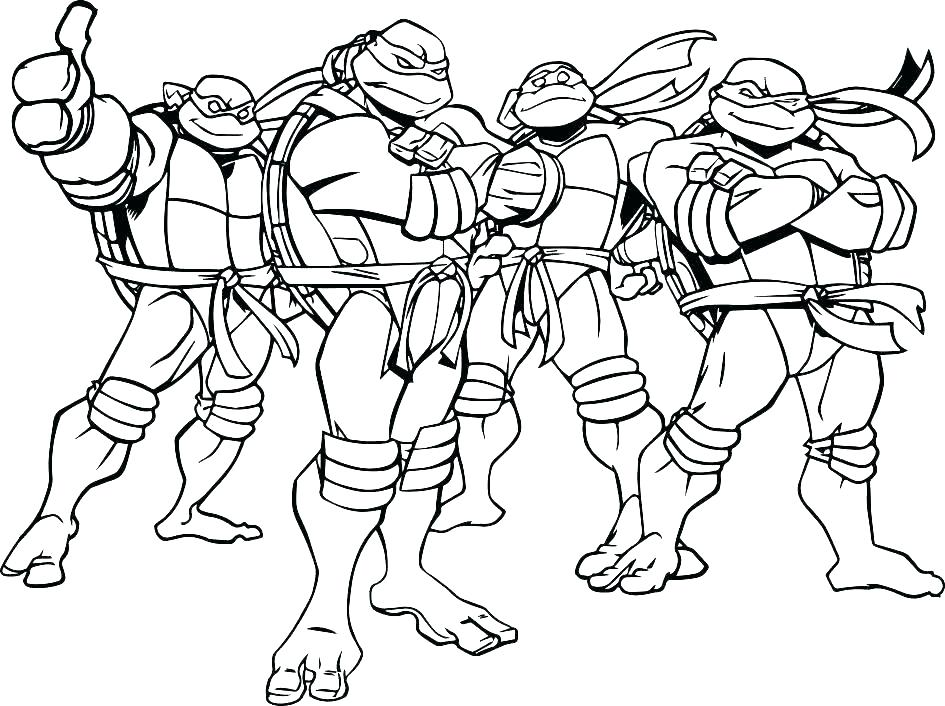 945x706 Ninja Turtles Free Coloring Pages Teenage Mutant Ninja Turtles