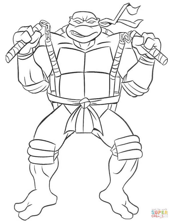 609x786 Teenage Mutant Ninja Turtles Coloring Page Printable To Pretty