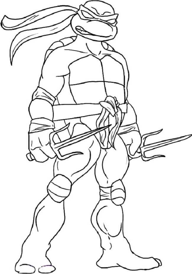 650x927 Teenage Mutant Ninja Turtles Coloring Pages Free Get This
