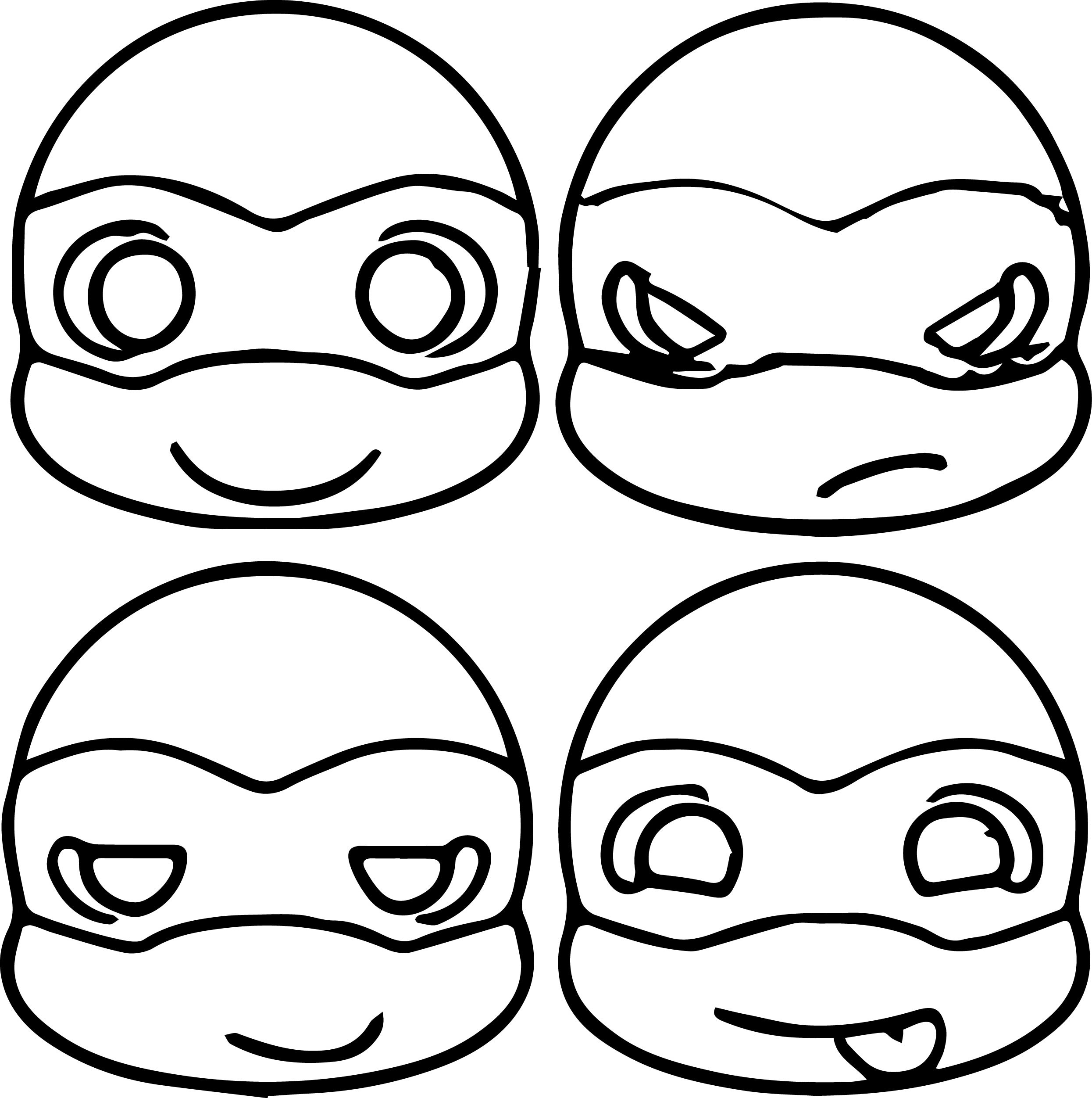 2490x2502 Teenage Mutant Ninja Turtles Coloring Pages Printable Simple Ninja
