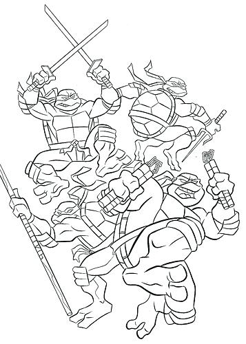 357x500 Tmnt Free Printable Coloring Pages Kids Coloring Teenage Mutant